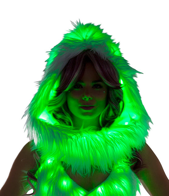 Adult-Women's-Fur-Light-Up-Hood-Party-Costume-Accessory---Multiple-Colors/Prints