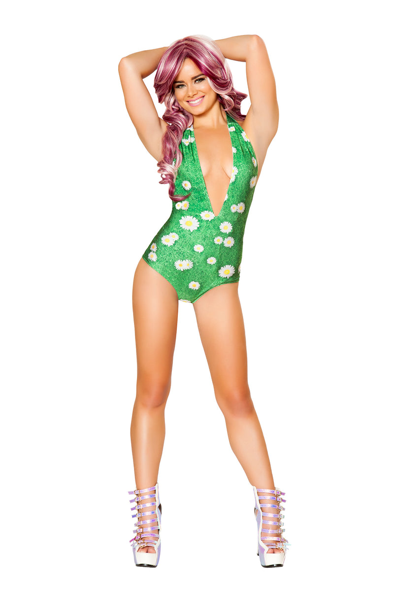 1 PC Light Up Graphic Print V Neck Romper Party Costume - Multiple Colors/Prints - Fest Threads