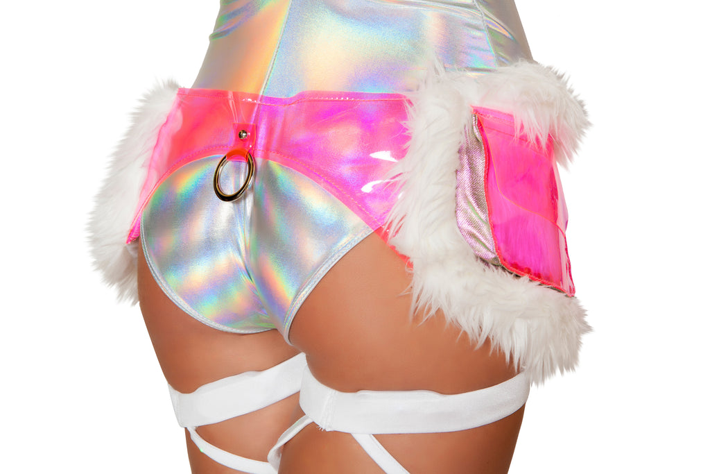Adult-Women's-Light-Up-Furry-Satchel-Fanny-Pack-Party-Costume-Accessory