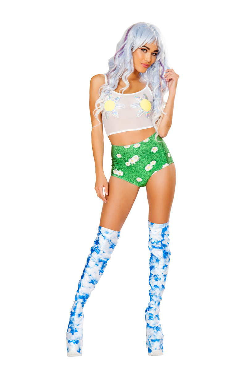 1-PC-Graphic-Printed-High-Waist-Shorts-Party-Costume---Multiple-Colors/Prints