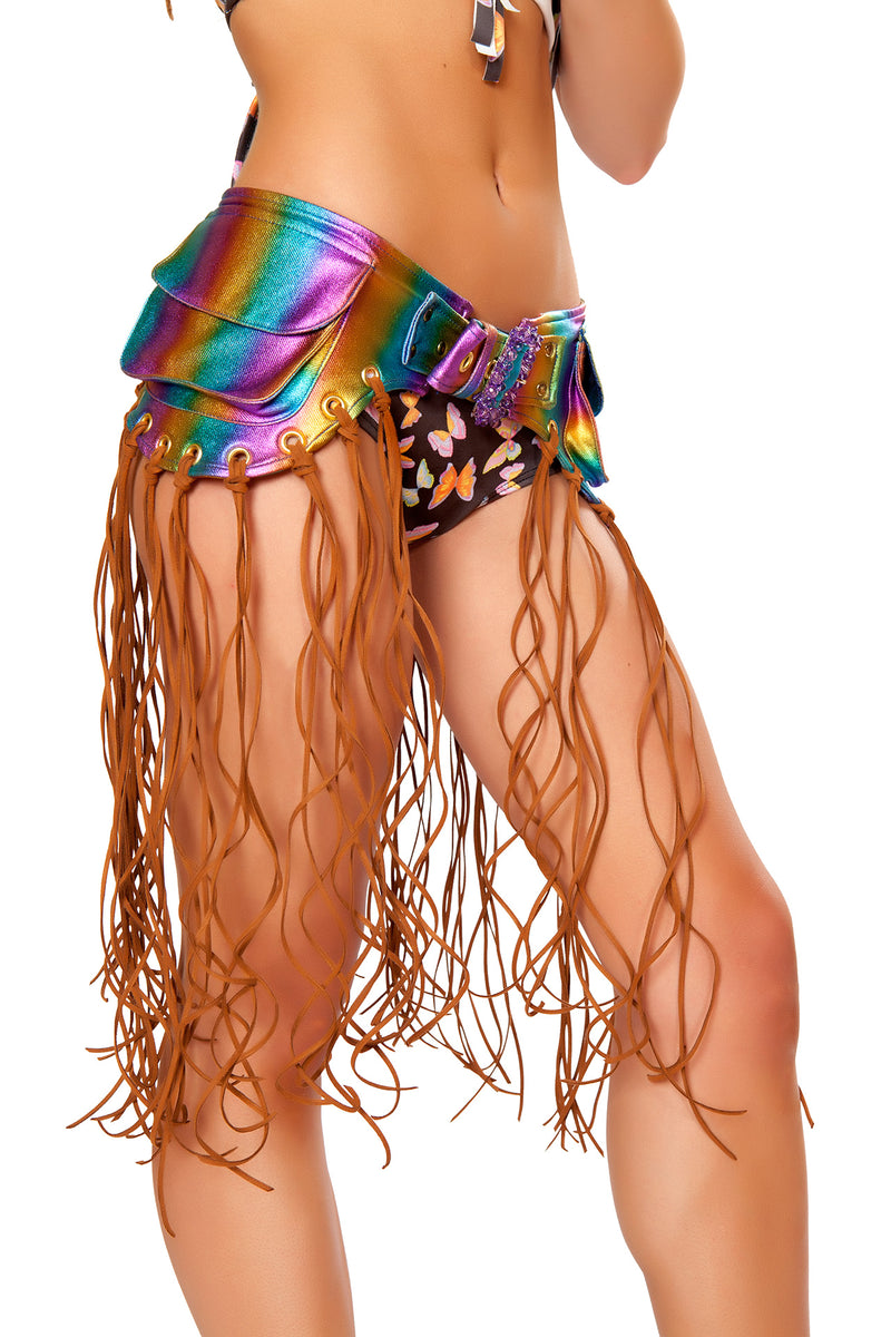 Adult Women's Fringe Hip Pack Party Costume Accessory - Multiple Colors - Fest Threads