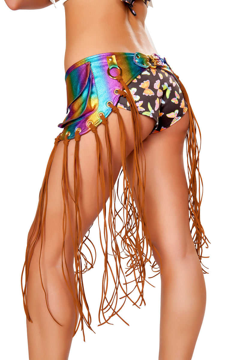 Adult-Women's-Fringe-Hip-Pack-Party-Costume-Accessory---Multiple-Colors-