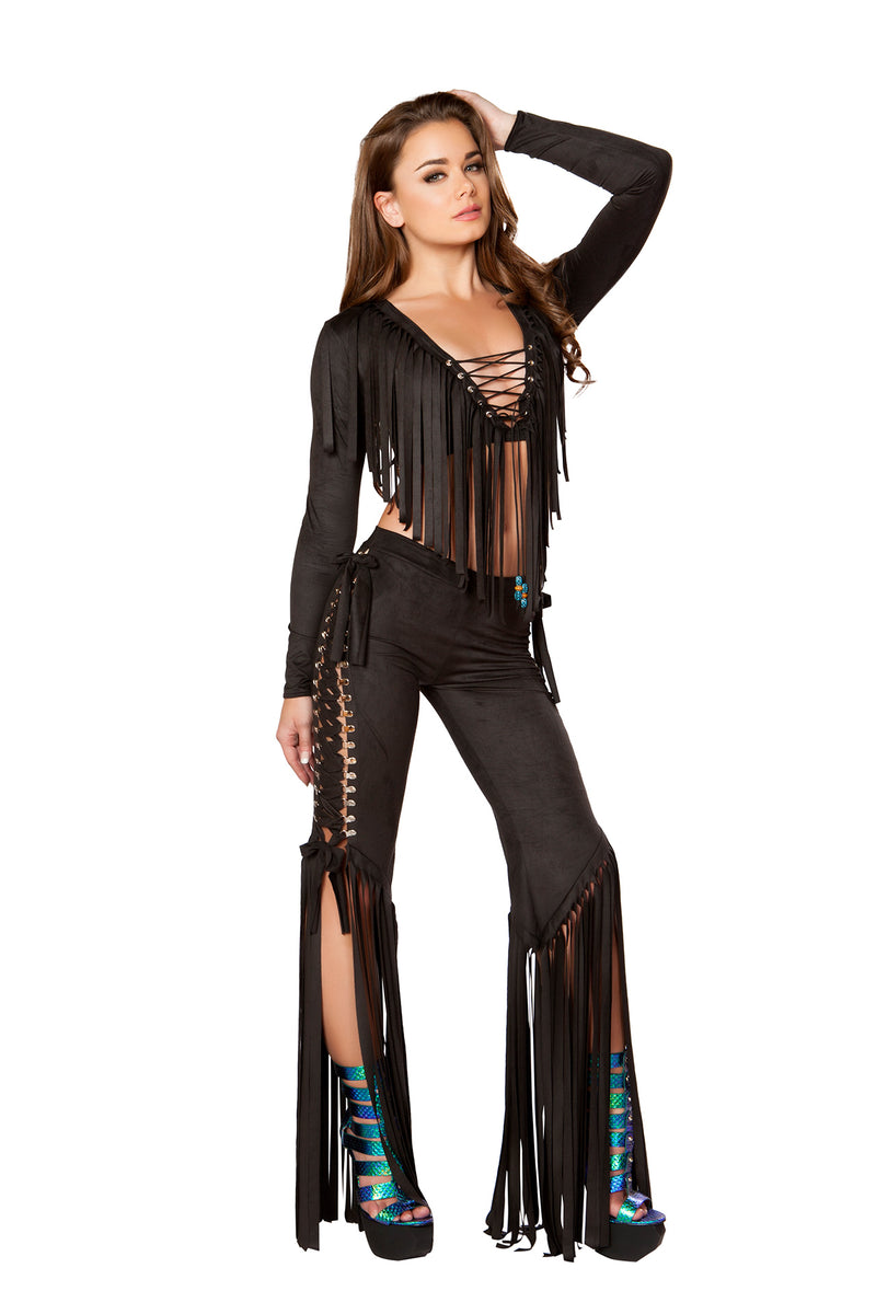 1-PC-Lace-Up-Fringe-Pants-Party-Costume---Multiple-Colors/Prints