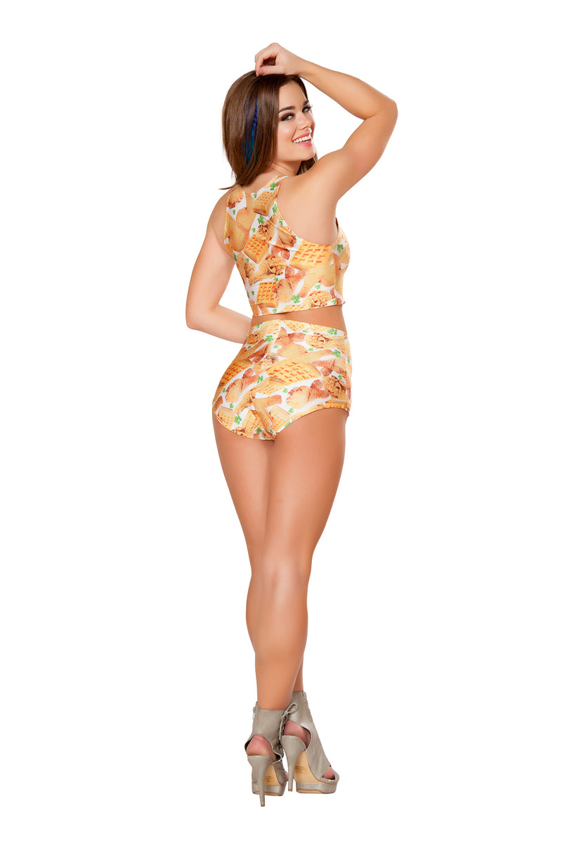 1 PC Graphic Printed High Waist Shorts Party Costume - Multiple Colors/Prints - Fest Threads