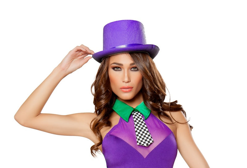 Adult-Women's-Purple-Top-Hat-Party-Costume-Accessory