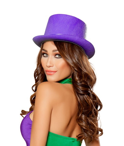 Adult Women's Purple Top Hat Party Costume Accessory - Fest Threads