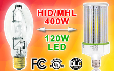 400w hid to led