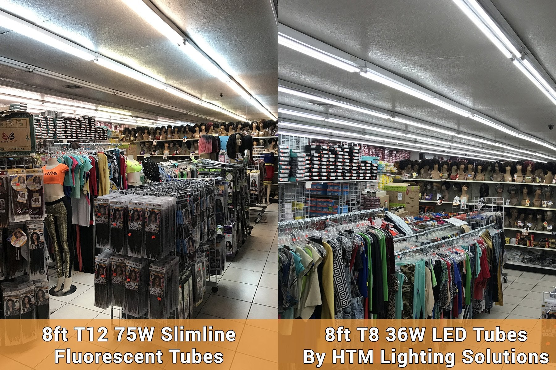 T12 to T8 LED Lighting Retrofit