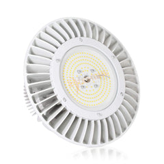 100W UFO High Bay Light Fixture with Hook (White) - IP65 - 5000K - 13,000 Lm - UL/DLC Qualified