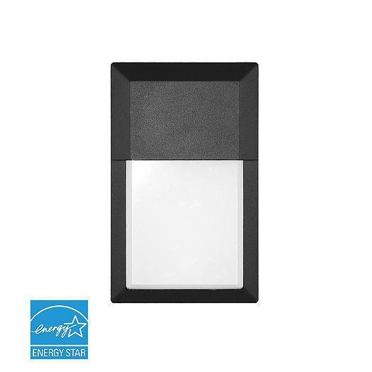 LED Wall Packs 12W Mini Outdoor LED Wall Pack with Matte Black & Frosted Lens - 1000lm - 50W MH Equal 3000K - Warm White