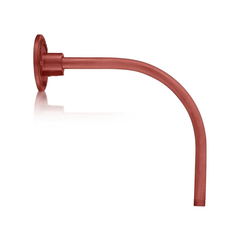 ECO-RLM Arms 13'' Satin Red Vertical Gooseneck Arm With Arm Height of 12''
