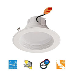 "13W 4"" Recessed LED Downlight - 92 ° Beam - 120V - CRI>90 - E26 Adapter Base - 910 lm"