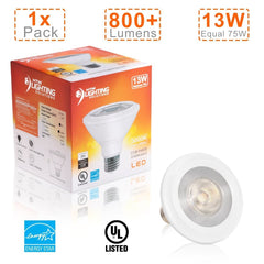 13W PAR30 LED Bulb Short Neck With 40° Beam Angle