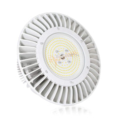 200W UFO High Bay Light Fixture with Hook (White) - IP65 - 5000K - 26,000 Lm - UL/DLC Qualified