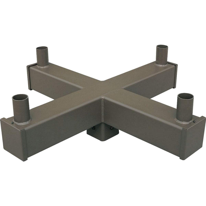 "Pole Mounting Accessories 5"" 90 Degree Quad Square Vertical Tenon,  Bronze"
