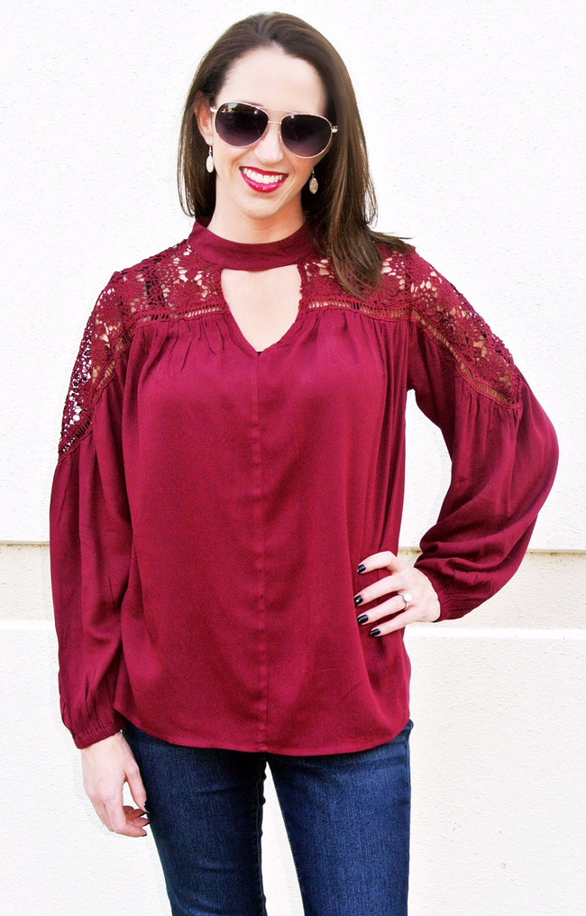 Maroon Ambition Top