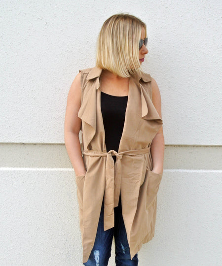Cream Suede Jacket