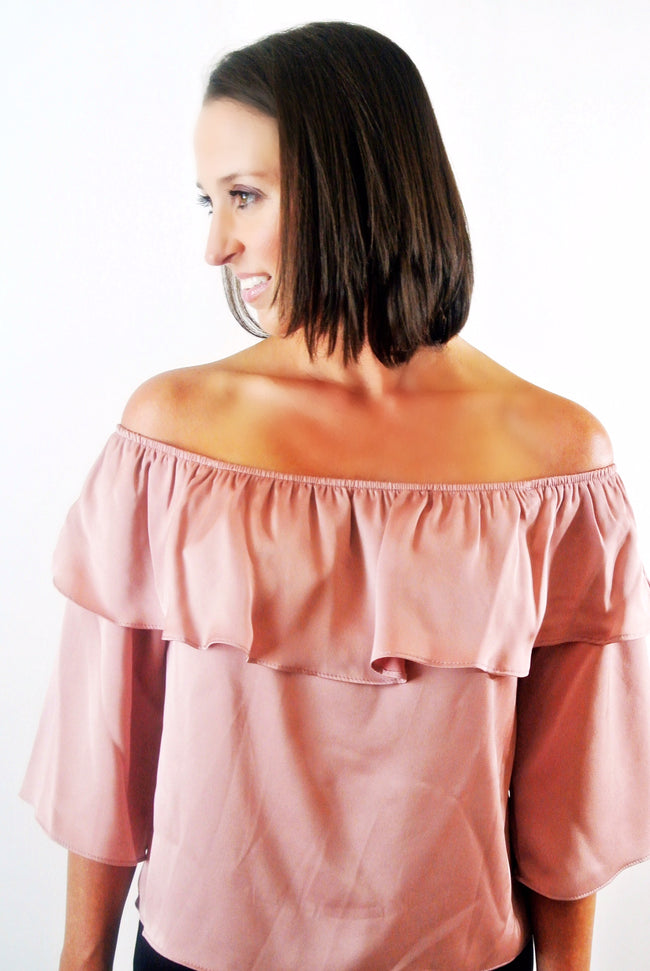 Think Pink Off the Shoulder Top