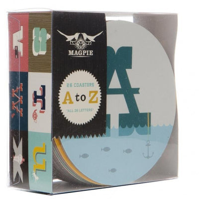 A-Z Coaster Set of 26 Cooks' Nook