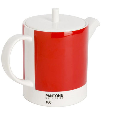 Pantone Bone China Teapot -Red Teapot pantone