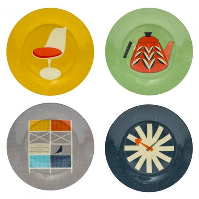 Mid Century Dessert Plates - Set of 4