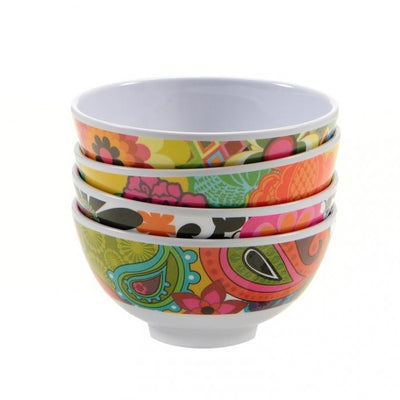 Floral Bowls - Set of 4 melamine bowls French Bull