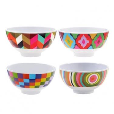 Mod Bowls - Set of 4 melamine bowls French Bull