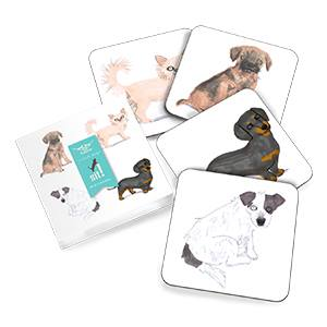 Dog Coaster Set - Set of 4