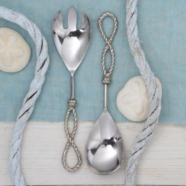 Serving Spoon and Fork Set Spoon Two's Company