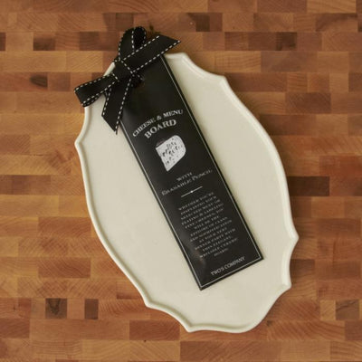 Cheese and Menu Board with Erasable Pencil Cooks' Nook