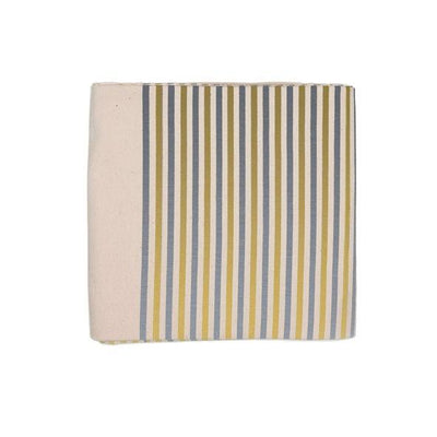 Silver and Gold Striped Cotton Tablecloth