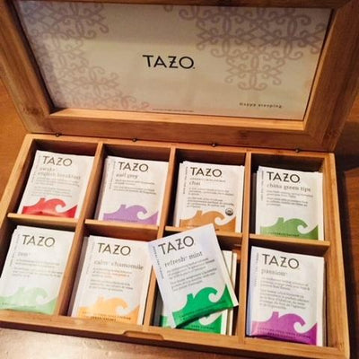 Tazo  Wooden Gift Box with Tea