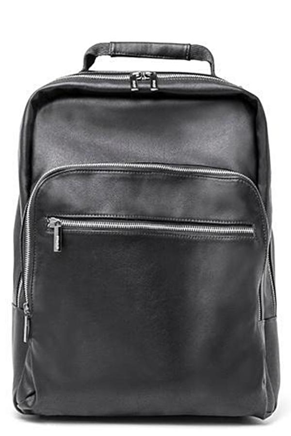 Unisex Vegan Berlin Travel Backpack in Black