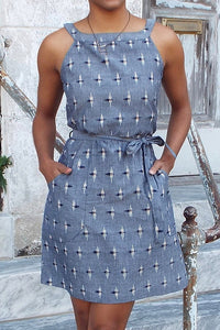 Chambray Shift Dress
