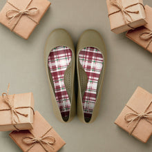 Dirty Martini Ballet Flats + Plaid Insoles