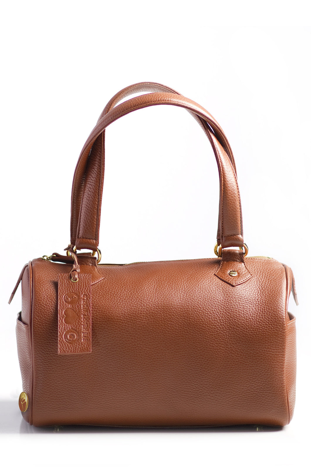 Classic Cognac Satchel - Good Cloth