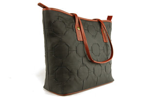 Black Fire & Hide Tote