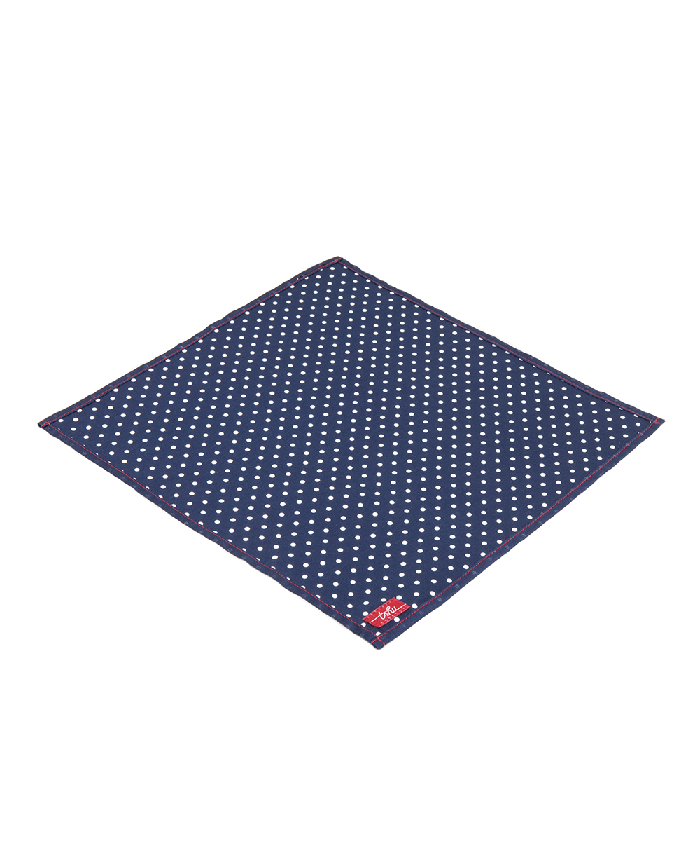 Organic Cotton Sateen Polka Dot Handkerchief - Good Cloth