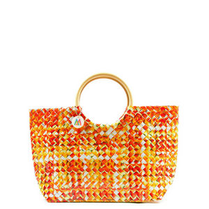 Orange + Yellow Woven Handbag