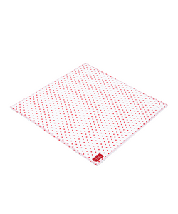 Organic Red Spotted Handkerchief doubled with White Cotton (2-Ply) - Good Cloth