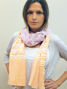 Paisley & Stripe Scarf - Good Cloth