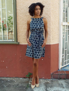 Pre-order: Ikat Triangles Shift Dress