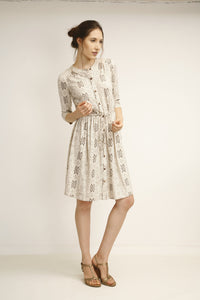 Button Front Dress - Rani Print - Good Cloth