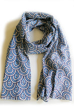 Peacock Blue Scarf - Good Cloth