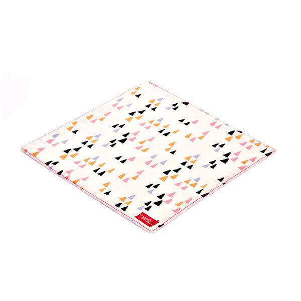 Triangles Organic Cotton Poplin and Terry Washcloth - Good Cloth