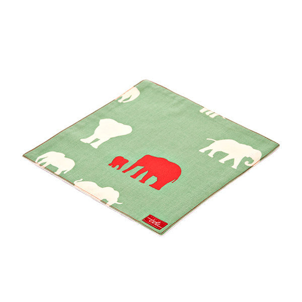 Elephant Organic Cotton Poplin and Terry Washcloth - Good Cloth