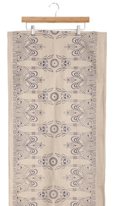 Vanna Table Runner In Pan's Labyrinth Print On Natural - Good Cloth