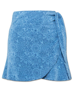 Rhythm and Blues Organic Cotton Wrap Mini Skirt