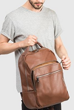 Unisex Vegan Berlin Travel Backpack in Brown