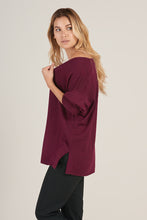 Alpaca V-Neck Pullover in Burgundy - Good Cloth